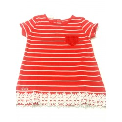 Vestido camisero coral bebe niña de IDO