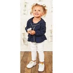 Pantalón blanco bebe niña de IDO
