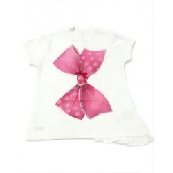 Camiseta lazo bebe niña de IDO