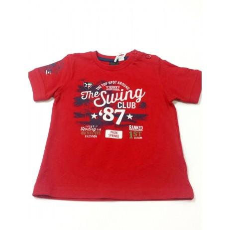 Camiseta roja bebe niño de IDO