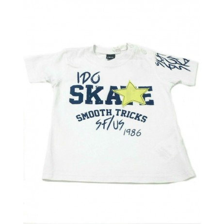 Camiseta blanca bebe niño de IDO