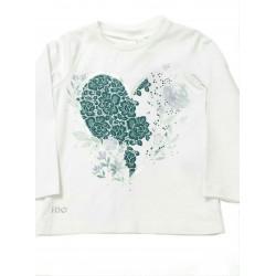 Camiseta flores verdes niña de IDO