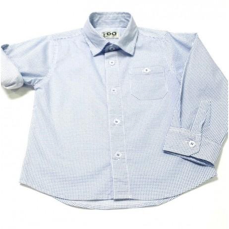 Camisa niño topos azules de IDO