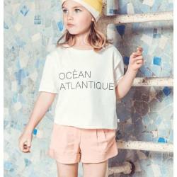 Camiseta blanca niña de Carrement Beau