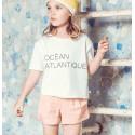 Camiseta crema niña de Carrement Beau