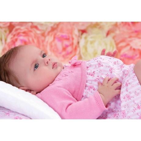Pelele corto rosa bebe niña de Paz Rodriguez