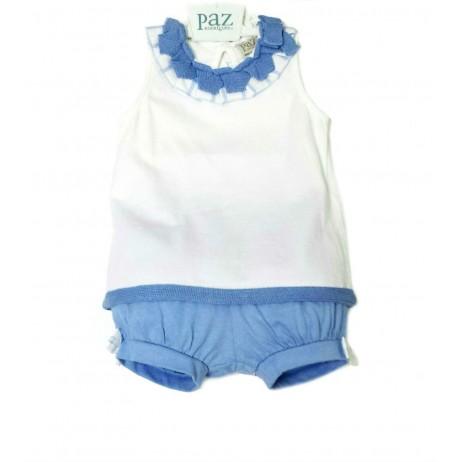 Conjunto azul bebe niña de Paz Rodriguez