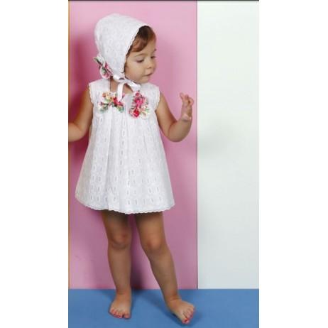 Jesusito blanco floral bebe niña de Naxos