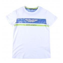 Camiseta blanca niño de Aston Martin