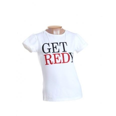 Camiseta letras strass niña de FUN & FUN