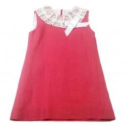 Vestido lino fucsia de Naxos