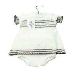 Vestido punto verano bebe niña de Teresa Rodriguez