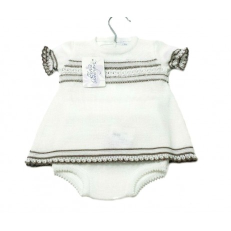 Vestido punto bebe niña de Teresa Rodriguez