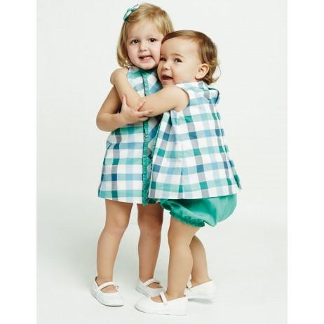 Vestido cuadros bebe niña de Ñaco
