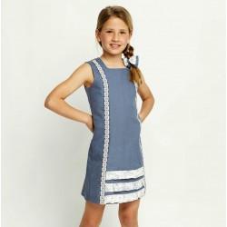Vestido azul niña de Ñaco