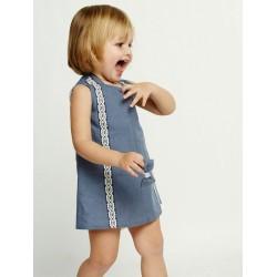 Vestido azul bebe niña de Ñaco