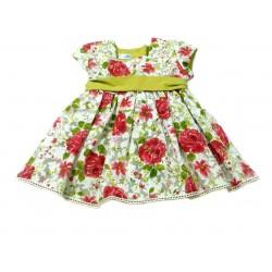 Vestido estampado flores bebe niña de Teresa Rodriguez
