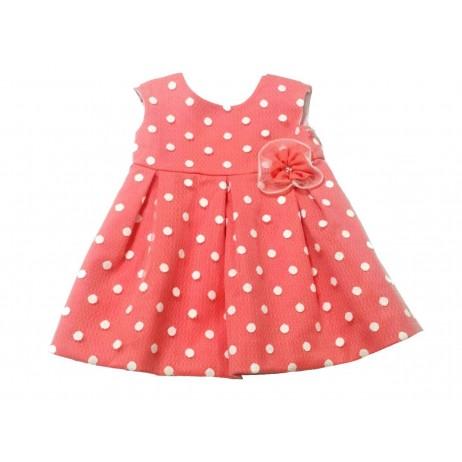 Vestido con topitos bebe niña de Teresa Rodriguez