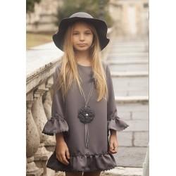 Vestido gris Campidoglio de Bella Bimba