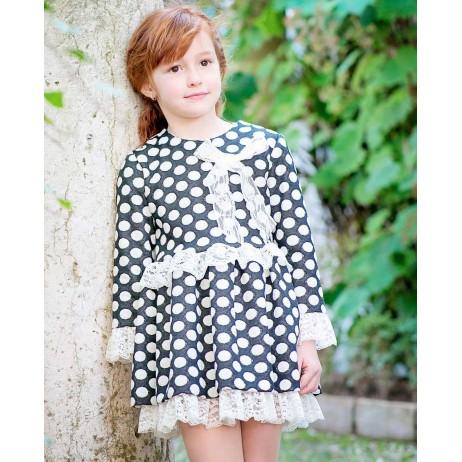 Vestido lunares niña de Sinfonietta