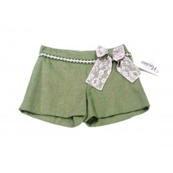 Short verde musgo niña de Naxos