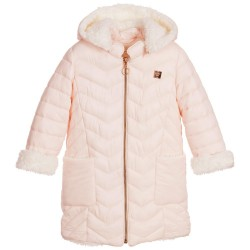 Abrigo acolchado rosa niña de Carrement Beau