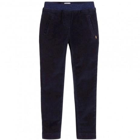 Pantalón pitillo micropana azulón oscuro niña de Carrement Beau