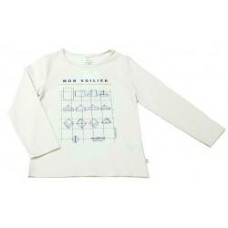 Camiseta crema niño de Carrement Beau