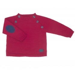 Jersey rojo niño con coderas de Fina Ejerique