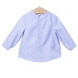 Camisa azul bebe niño de Fina Ejerique