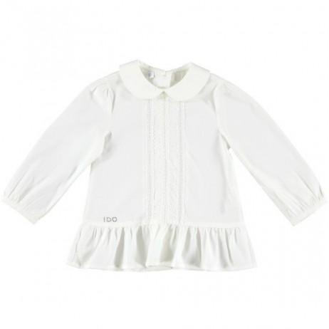 Blusa blanco roto bebe niña de IDO