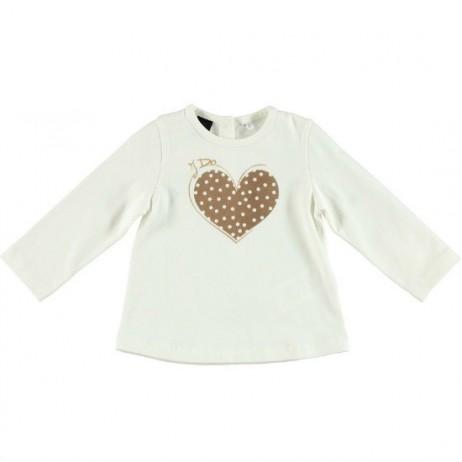 Camiseta corazón bebe niña de IDO
