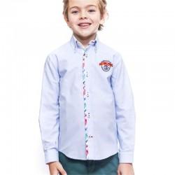 Camisa azul niño Ugo de La Jaca