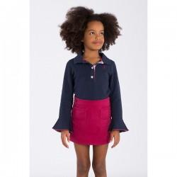 Falda elástica niña borgoña de La Jaca