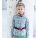 Camisa cuadros niña Almendra de La Jaca