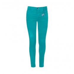 Pantalón pana verde turquesa niña de Lion of Porches