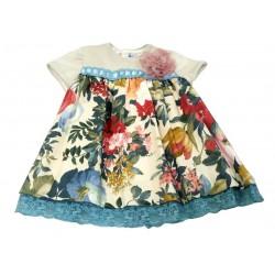 Vestido estampado flores bebe niña de Naxos
