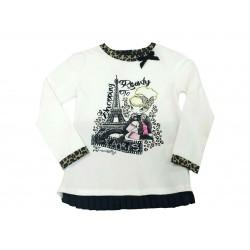 Camiseta crema niña paris de Artigli Girl