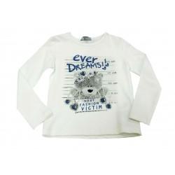 Camiseta crema niña osito de Artigli Girl