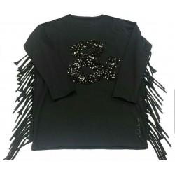 Camiseta larga negra niña de Elisabeth Puig