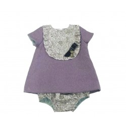 Vestido malva bebe niña de Teresa Rodriguez
