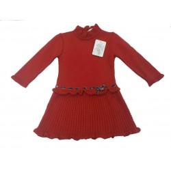 Vestido de punto rojo bebe niña de Teresa Rodriguez