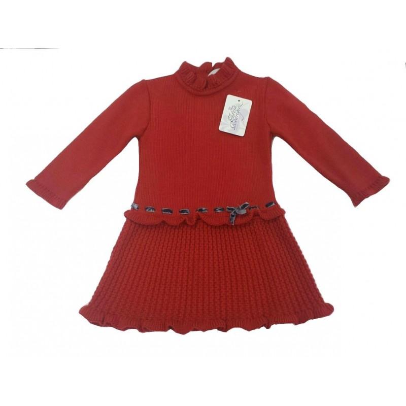 Vestidos de punto rojos