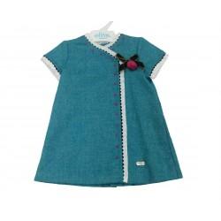 Vestido turquesa bebe niña de Elisa Menuts