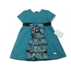 Vestido turquesa niña de Elisa Menuts