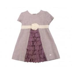 Vestido bebe niña ciruela de Elisa Menuts