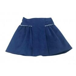 Falda azul micropana niña de A Gatas