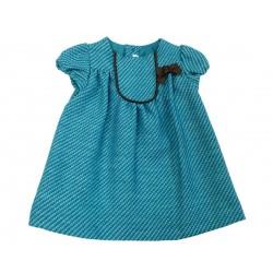 Vestido turquesa bebe niña de Fina Ejerique