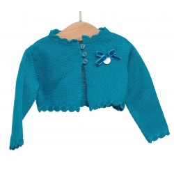 Chaqueta corta azul azafata bebe niña de Fina Ejerique