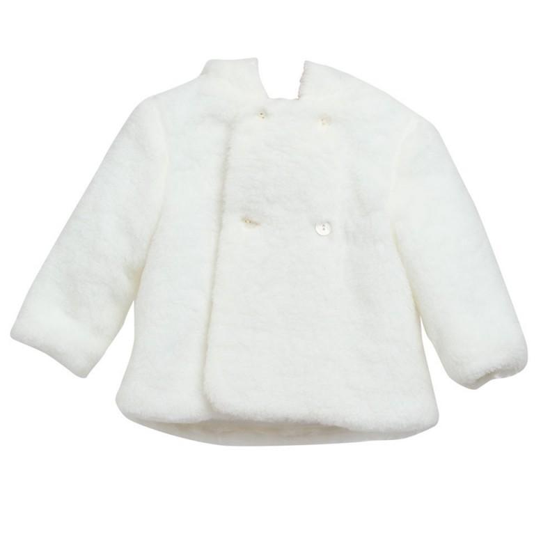 Abrigo Blanco - Moda infantil - Ropa de bebe niña – Nico y Nicoletta 46ac343493a
